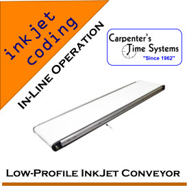 Low-Profile InkJet Coding Conveyor