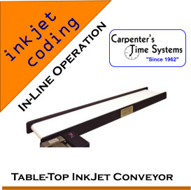 Table-Top InkJet Coding Conveyor